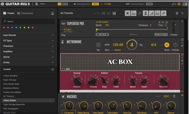 Features of Native Instruments Guitar Rig 6 Pro